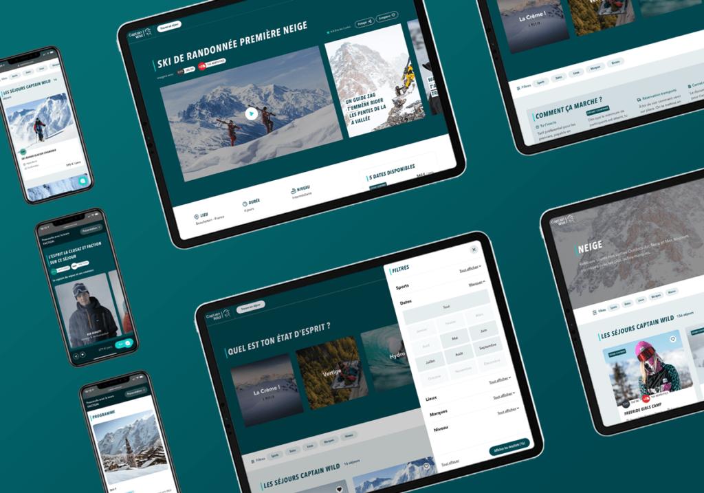 UI design - Design d'interface utilisateur - Captain Wild - Annecy - Plateforme eCommerce de réservation
