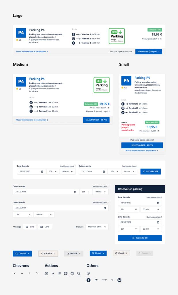Design UI - interface utilisateurs - Aéroport de Lyon